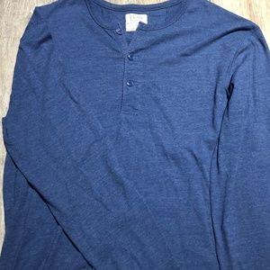 Men's J. CREW cotton long sleeve tee